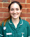 Hannah Wilding, nurse at Barton Veterinary Hospital